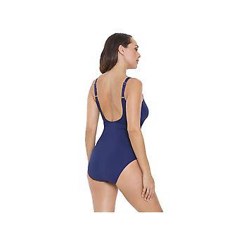 Seaspray SY006411A Women's Navy Blue Long Length Costume One Piece Swimsuit