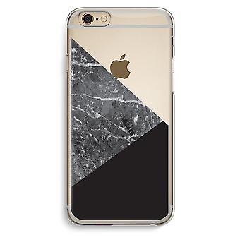Caso transparente iPhone 6 6s (Soft) - combinação de mármore