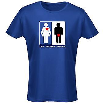 De eenvoudige waarheid Valentines humor grappige Womens T-Shirt 8 kleuren door swagwear