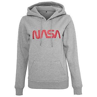 Merchcode ladies Hoody - NASA worm heather grey