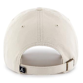 47 Brand MLB Atlanta Braves Clean Up Cap - Natural
