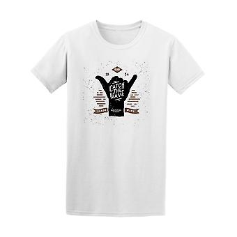 Hipster Surfing Hand Catch The Wave Tee - Image by Shutterstock