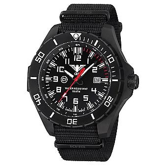 KHS watches mens watch black steel KHS country leader. LANBS.NB