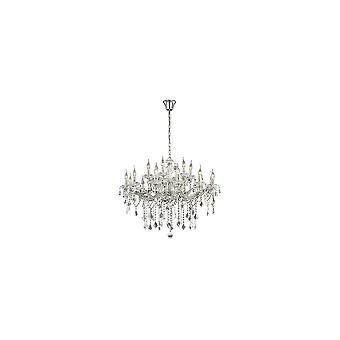 Ideal Lux Florian Large 18 Bulb Chrome And Clear Crystal Chandelier