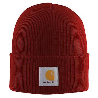 Carhartt Acrylic Watch Cap - Dark Crimson Iconic Carhartt Crimson Red Watch Hat