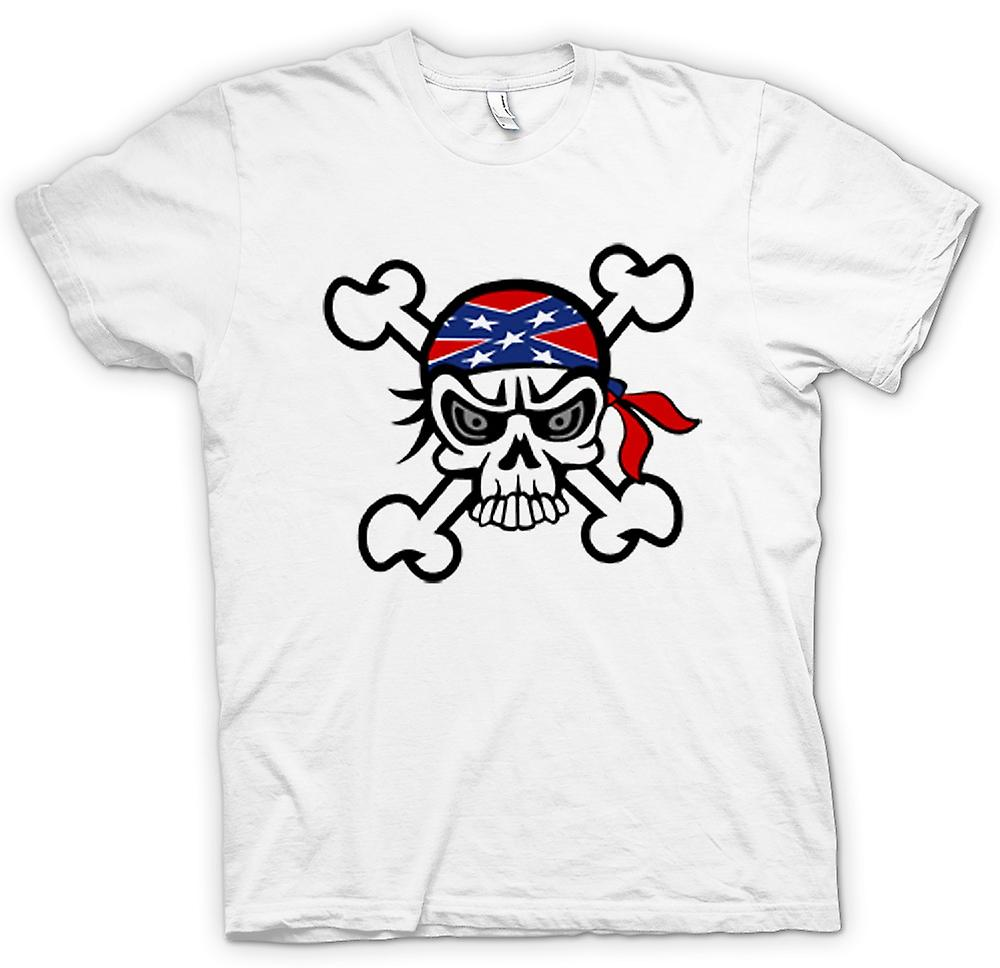 Mens T-shirt - Skull with Bandana & Cross Bones