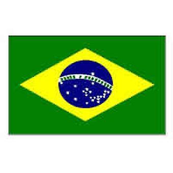 Braziliaanse vlag 5 ft x 3 ft met oogjes voor verkeerd-om