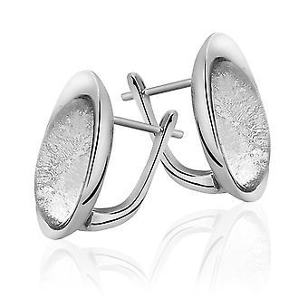 Orphelia Silver 925 Earring Glass Silver Sheet Oval  ZO-5200