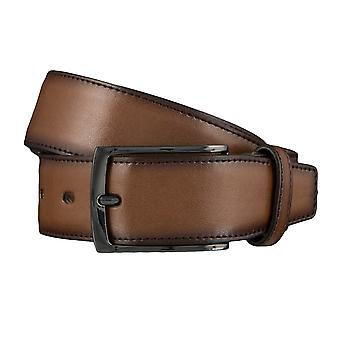 LLOYD Men's belt belts men's belts leather belt Cognac 4144