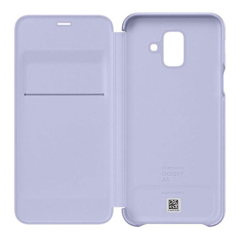 Samsung lommebok dekke saken EF WA600CVEGWW Galaxy A6 2018 A600F beskyttende ermet lavendel