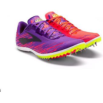 Mach 18 Womens Ross Country Running Spikes Purple/Coral