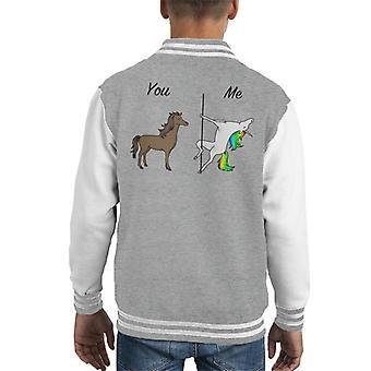 You Me Horse And Unicorn Kid's Varsity Jacket