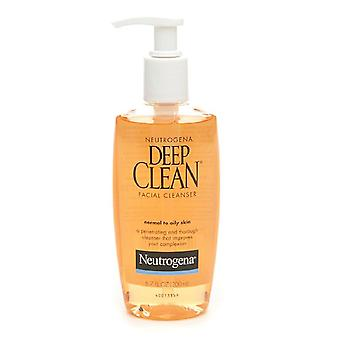 Neutrogena Deep Clean Facial Cleanser, For Normal To Oily Skin, 6 Oz