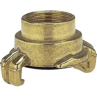 GARDENA 7106-20 Messing-Lock-Klauenkupplung - Gewindestück Kieferkupplung, 18,7 mm (1/2) IT