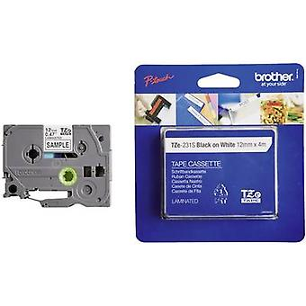Labelling tape Brother TZe, TZ TZe-231S Tape colour: White Font colour:Black 12 mm 4 m