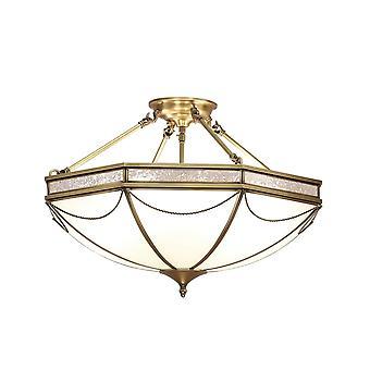 Wnętrza 1900 Russell Roman styl 8 światła białego Tiffany Lampa sufitowa natynkowo