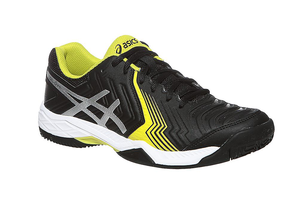 ASICS men's black gel-game tennis shoes 6 black men's clay 490923