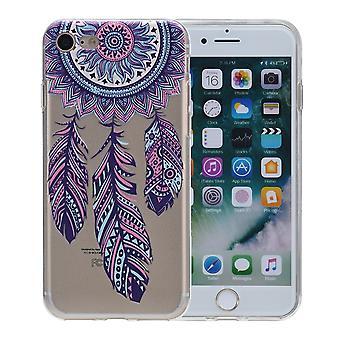 Cubierta de la henna para Apple iPhone 7 además de atrapasueños de silicona caso protector