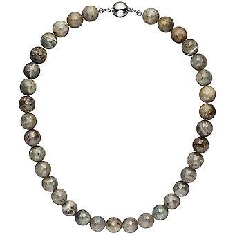 Ожерелье цепь тенденция 45 см Labradorithkette камень драгоценный камень ожерелье цепь