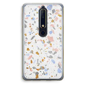Nokia 6 (2018) прозрачный корпус (Soft) - терраццо N ° 8