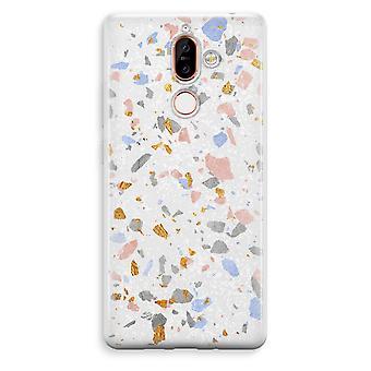 Nokia 7 Plus Transparent Case (Soft) - Terrazzo N°8