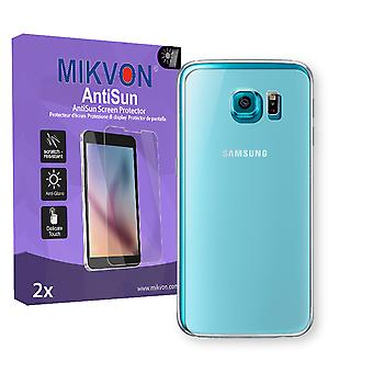 Samsung Galaxy S6 Duos (G9200) reverse Screen Protector - Mikvon AntiSun (Retail Package with accessories) (intentionally smaller than the display due to its curved surface)