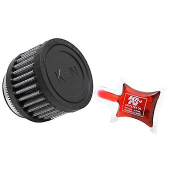 K&N RU-2700 Universal Clamp-On Air Filter: Round Straight; 1.938 in (49 mm) Flange ID; 2 in (51 mm) Height; 3 in (76 mm)