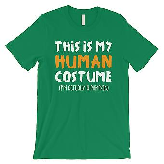 This Is My Human Costume Mens Green T-Shirt