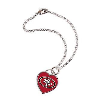 Wincraft ladies 3D heart bracelet - NFL San Francisco 49ers