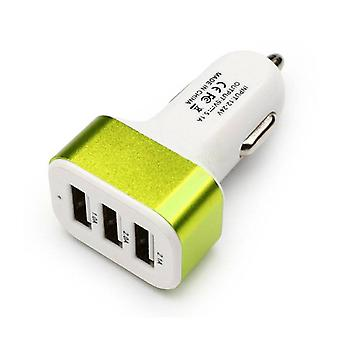 Stuff Certified ® 10-Pack High Speed ??3-Port Charger / Carcharger Green