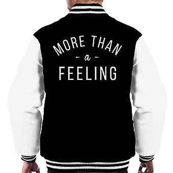 More Than A Feeling Song Lyric Men's Varsity Jacket