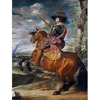 Equestraian Portrait of Gaspar de Guzman, Diego Velazquez, 50x40cm