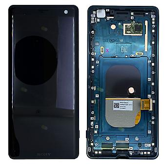 Sony Display LCD Komplett Einheit mit Rahmen für 1315-5028 Xperia XZ3 H8416 H9436 H9493 Grün Ersatzteil Neu