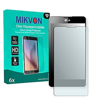 LG E975 Optimus G Screen Protector - Mikvon Clear (Retail Package with accessories)