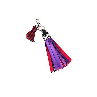 PINKO OMBRINA RED/PURPLE TASSEL KEY RING