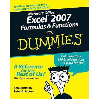 Microsoft Office Excel 2007 formules et des fonctions pour les nuls par Ken