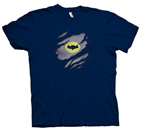 Herr T-shirt - Batman Under skjorta effekt - film Superhero