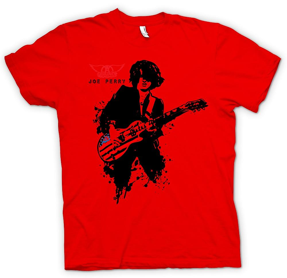 Mens T-shirt-Aerosmith - Joe Perry - Gitarre