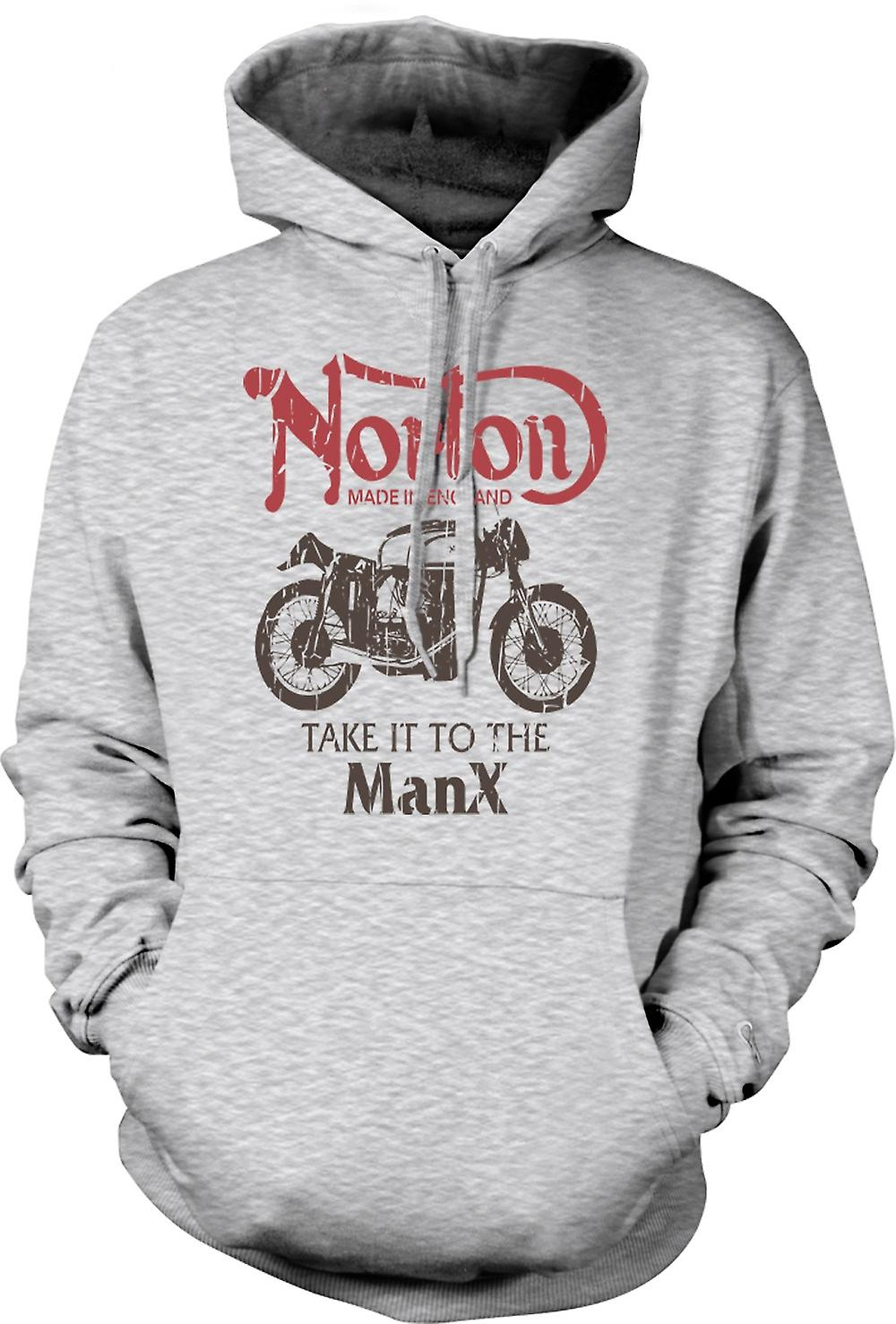 Mens Hoodie - Take It To The Manx