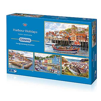 Gibsons Harbour Holidays Jigsaw Puzzles (4 x 500 Pieces)