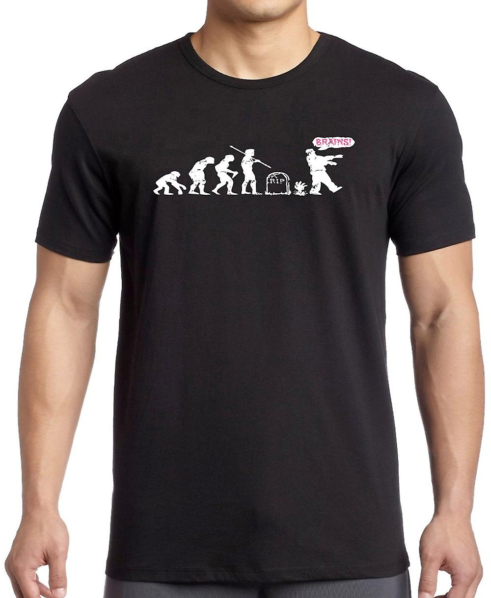 Zombie Evolution - hjärnor - Cool T Shirt