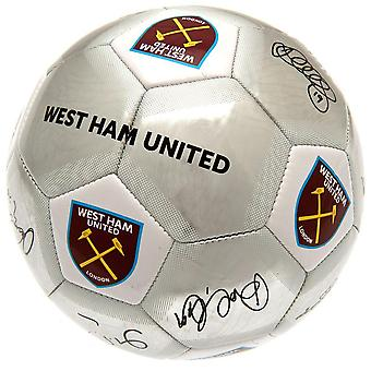 West Ham United FC Signature Silver Football
