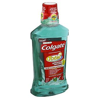 Total de Colgate advanced shield Pro colutorio, oleada de la menta verde, 16.9 oz