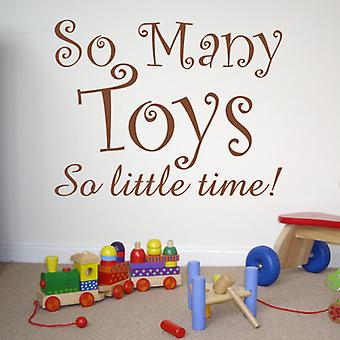 So Many Toys wall sticker decal