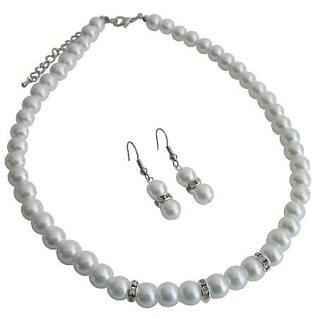 All Occasions Gathering Formal Semi Formal White Pearls Jewelry Set