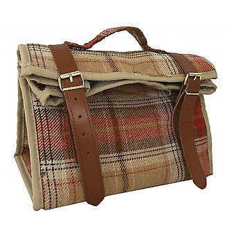 Autumn Red Tartan Picnic Cooler Bag