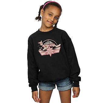 Marvel Girls Captain Marvel Chillin Goose Sweatshirt