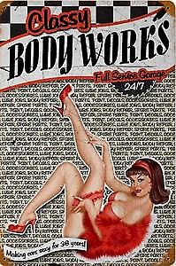Classy Body Works rusted steel sign 1812