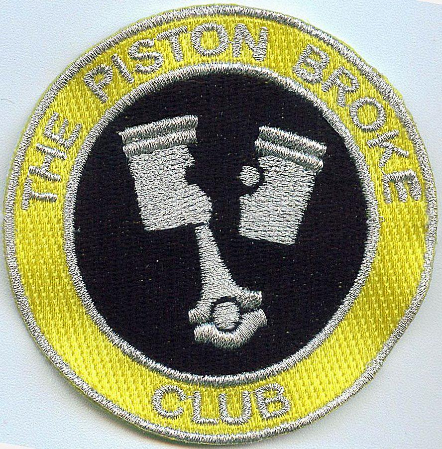 Piston Broke Club iron-on/sew-on cloth patch  (ff)
