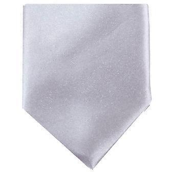 Knightsbridge Neckwear Slim Polyester Tie - Light Silver